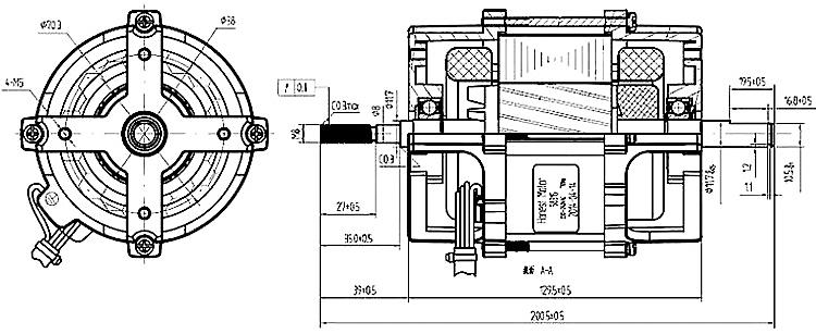 High Efficiency Single Phase 200w High Speed 120v 230v