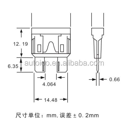 Standard Car Fuses Assortment Blade Fuse 2a 3a 4a 5a 7.5a