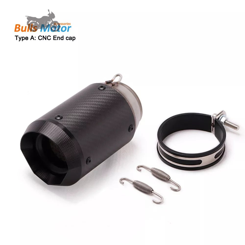 ar race exhaust motorcycle exhaust muffler carbon fiber silencer cnc end cap universal for yamaha r1 bmw s1000rr slip on escape buy ar race