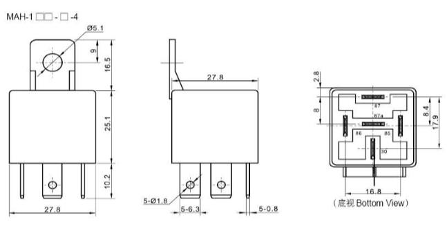 Meishuo Mah Car Auto Automotive Dc 12v 12 Volt 40a Amp 4