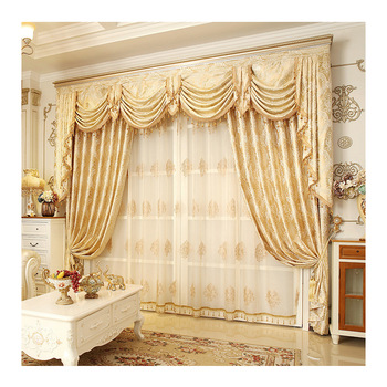 Hot Sale Window Luxury Living Room Jacquard Curtain With Valance Online Store Livingroom Curtain Cloth Buy Livingroom Curtain Cloth Luxury Curtains Living Room Curtains With Valance Product On Alibaba Com