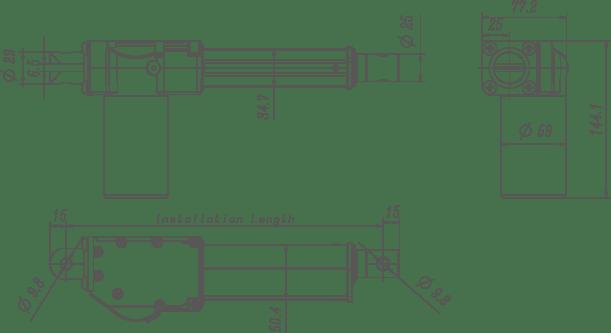 Richmat High Speed Small Linear Actuator For Door Opener