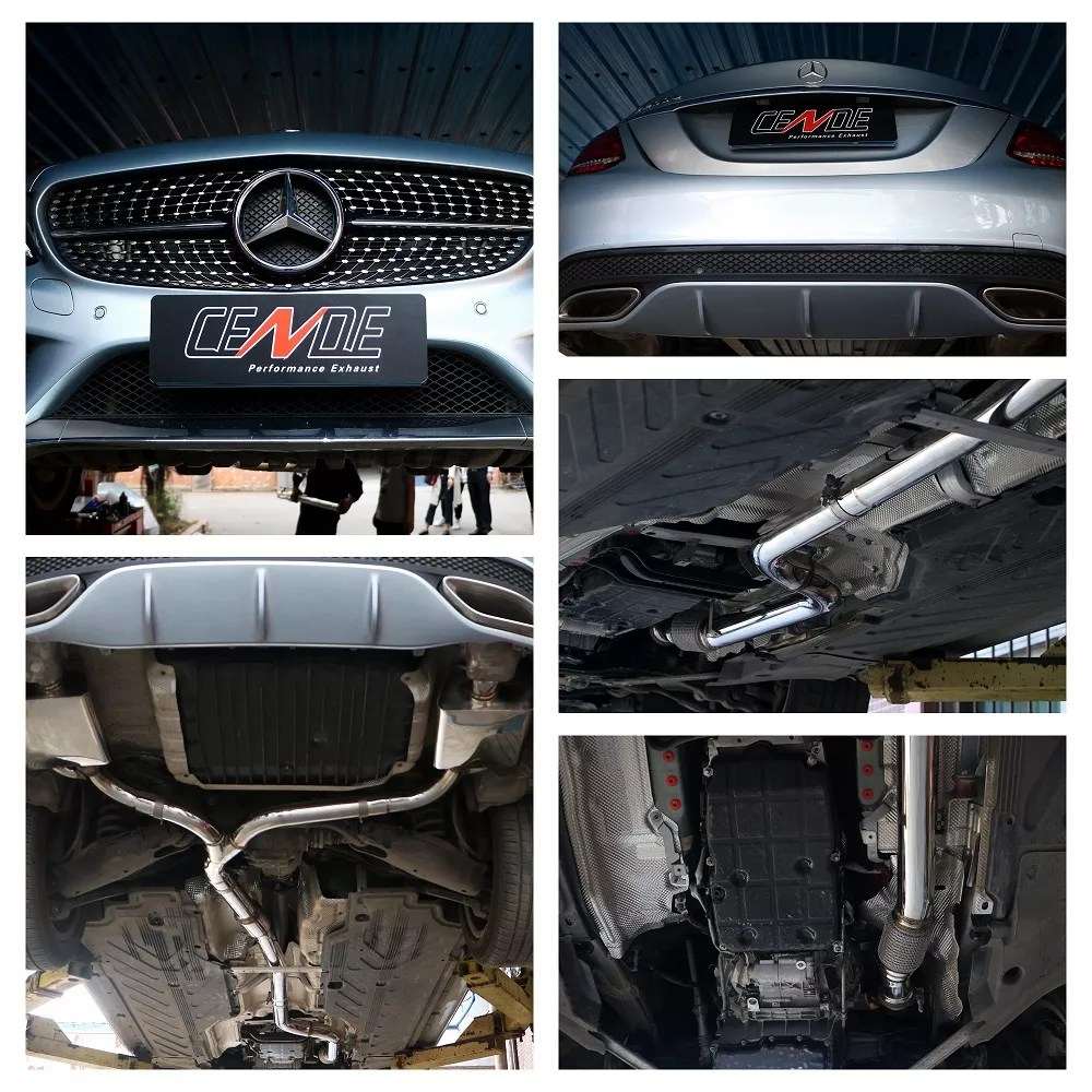 cende performance stainless steel 304 or titanium no valved or valved catback exhaust for mercedes benz w205 c200 c250 c260 c300 buy for mercedes