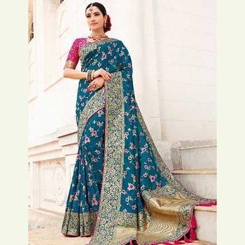 Designer Schwere Arbeit Hochzeit Tragen Saris Grohandel