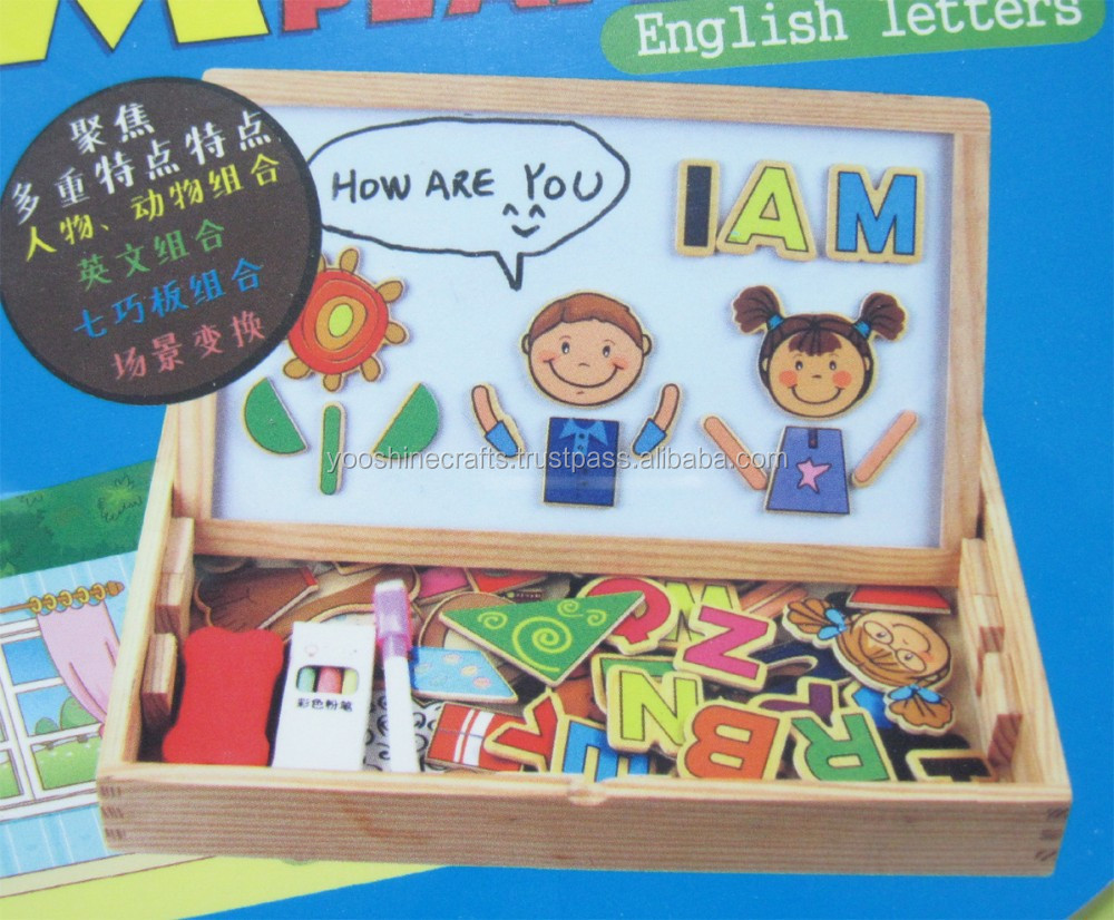 english letter magnetic board