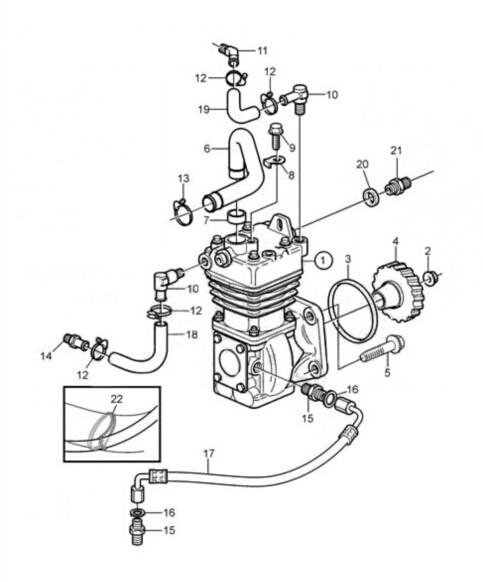 Volvo Truck Air Brake Compressor 20429341/lk3986/887000189
