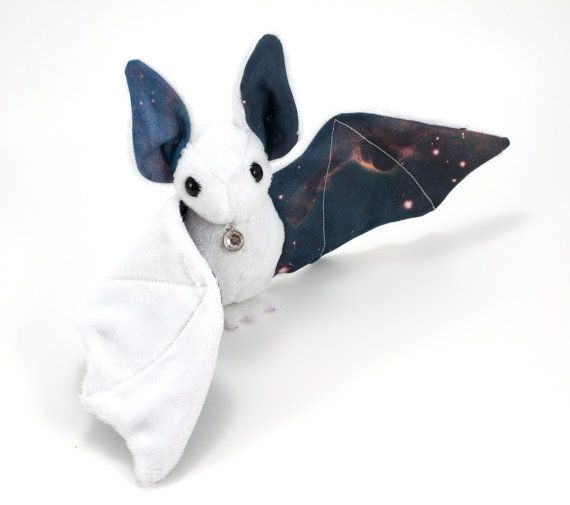 Starry Sky Wings Ears Plush Stuffed Toys Bat With White