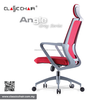 office chair posture buy lounge chairs for living room malaysia modern grey frame ergonomic mesh with headrest