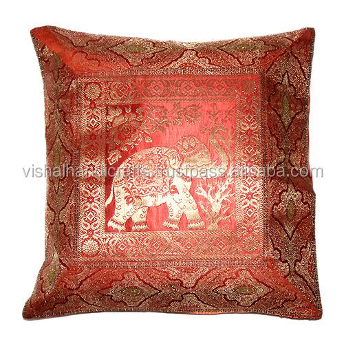 designer sofa pillows cushion covers ireland buy indian ethnic antique silk sari brocade ...