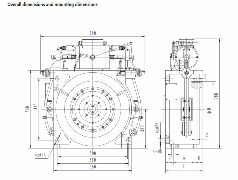 Elevator Parts Gearless Traction Machine Wwty Series