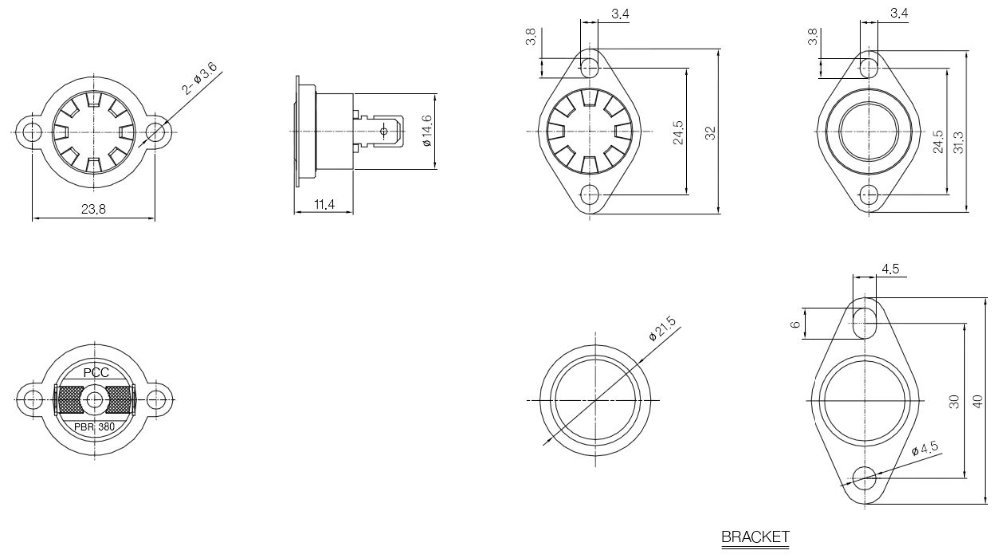 Bi-metal Thermostat,Manual Reset Type Temperature Switch