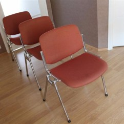Upholstered Stacking Chairs Lawn Chair Webbing Kit Original Giancarlo Piretti For Castelli A Chrome Aluminium And