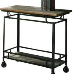 Outdoor Kitchen Storage Cart Diy Cabinet Drawers Industrial Metal With Wooden Top Buy