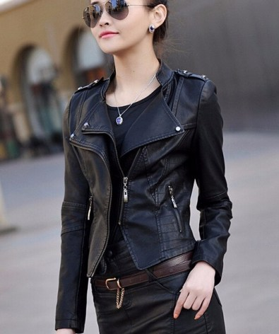 Image result for images of leather jacket for girls