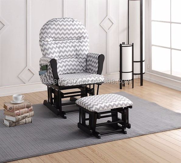 16157913 Glider Rocker With Pattern Fabric Comfortable