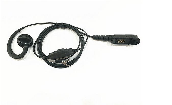 C Ring Earpiece Headset For Motorola Dp2000 Dp2400 Dp2600