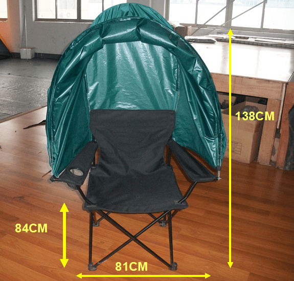 Kinlife Thickened Steel Tube Folding Tent Lawn Chair With