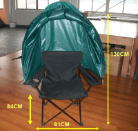 Kinlife Thickened Steel Tube Folding Tent Lawn Chair With ...