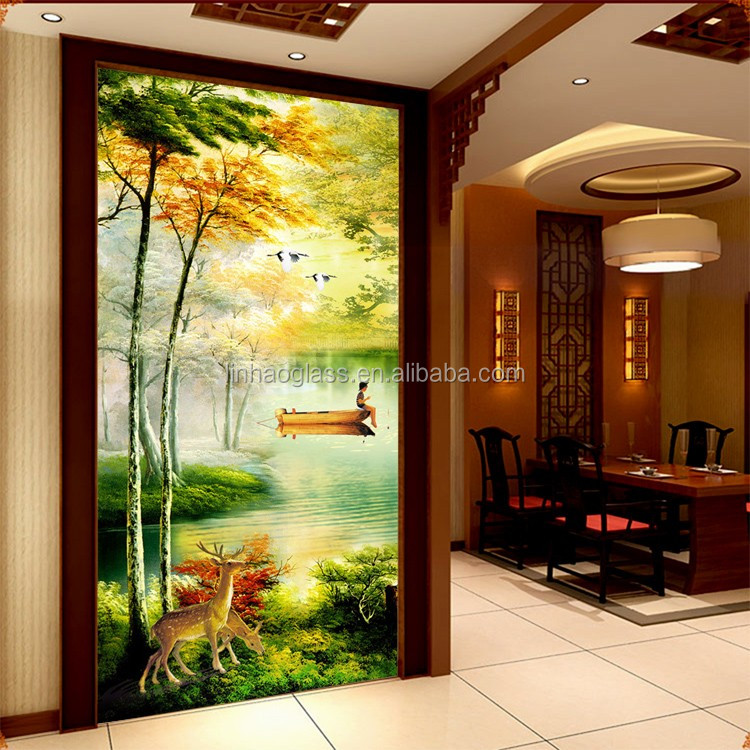 Natural Scenery Glass Painting  Buy Natural Scenery Glass PaintingVillage Scenery Painting