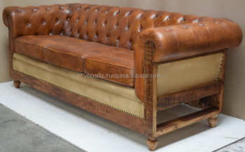 brown leather sofa on legs bed newcastle vintage wooden leg buy latest