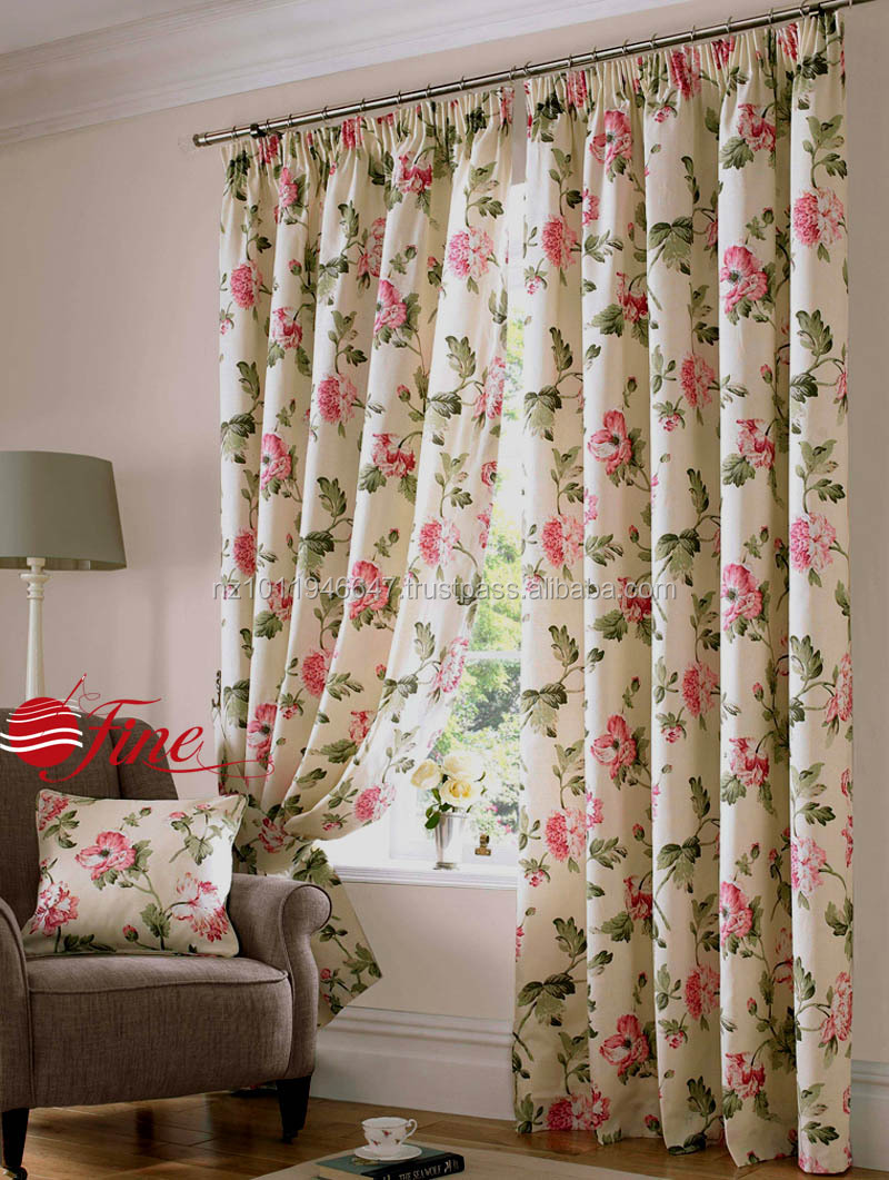 teal blue living room curtains with 4 chairs and no sofa top quality gorgeous country cottage floral ...