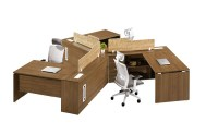 120 degree workstation seater office for 3 person desk