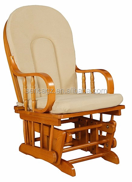 rocking chair cushion big and tall office chairs canada 1615-3085 glider rocker with pattern fabric comfortable wooden - buy furniture ...