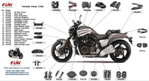 Motorcycle Carbon Fiber Body Parts For Yamaha Vmax 1700