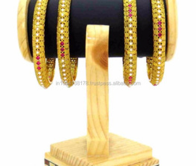 Four Bangles Indian Traditional Style Best Designer Gold Plated Imitations Jewellery In Wholesale