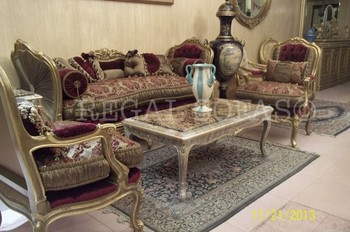 red living room furniture sets design ideas for rooms with corner fireplace gold sofa couch suite salon set italian french arabian