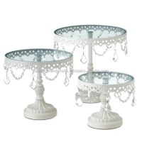 Wedding Cake Stand,White Cake Holder With Crystals,Metal ...