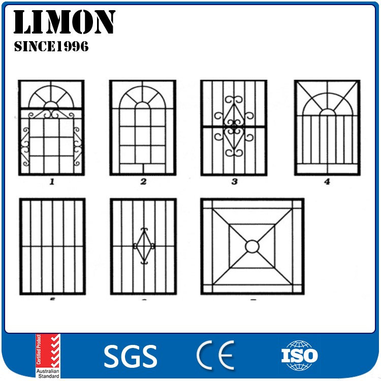 2016 Latest Simple Iron Window Grills Design For House