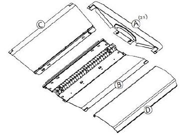 Ac100-277v 2x4ft Led Troffer Retrofit Fixtures Ul/dlc 5