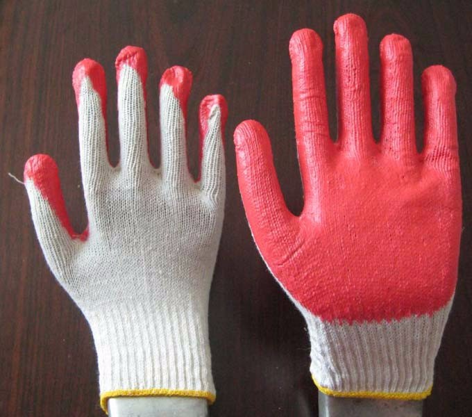 Rubber Palm Coated Cotton Hand Gloves Buy Cotton Gloves