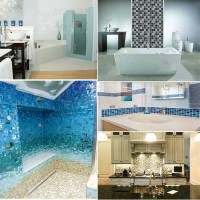 Anti-slip Swimming Pool Bathroom Kitchen Crystal Glass ...