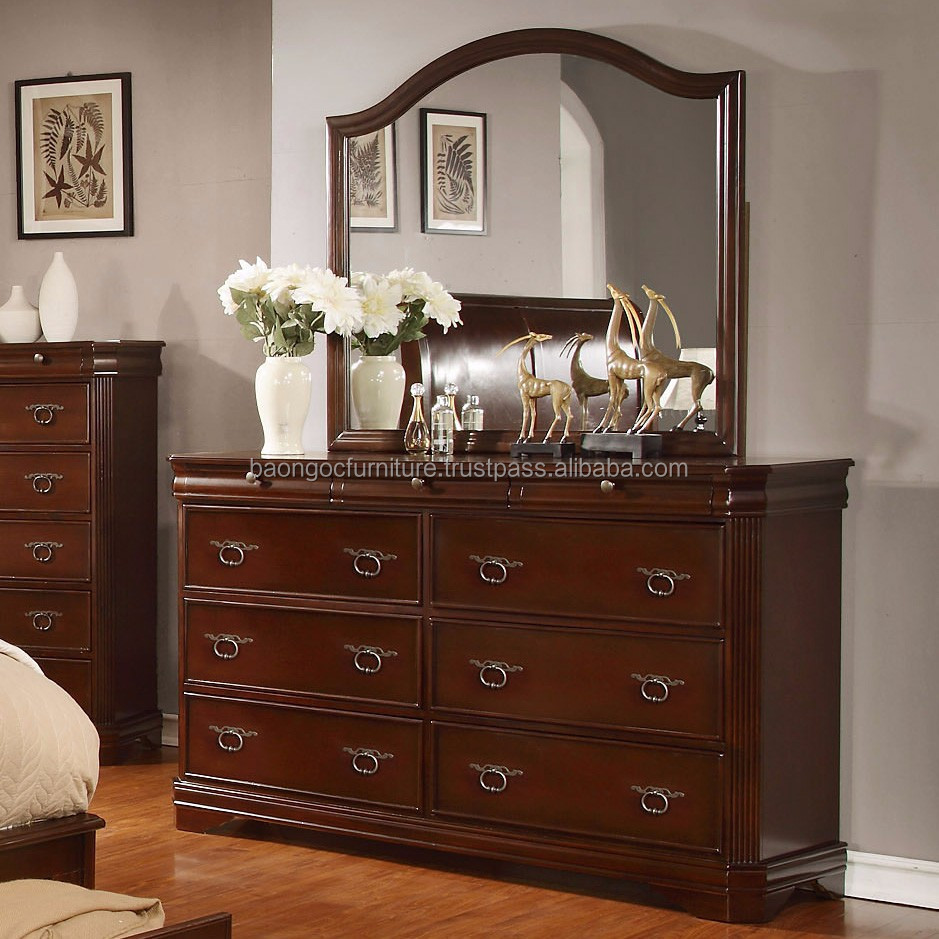 New Simple Designs Modern Bedroom Dresser Furniture Wooden Mirrored Dressing Table  Buy