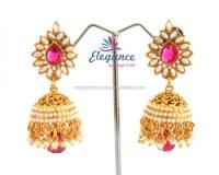 Antique pearl jumka earrings - indian traditional earrings ...
