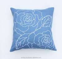 Latest design flower pillow cover, handmade embroidery ...
