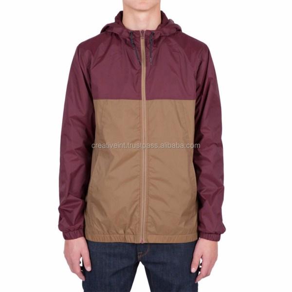 Windbreaker Jacket 100 Polyester Custom Man