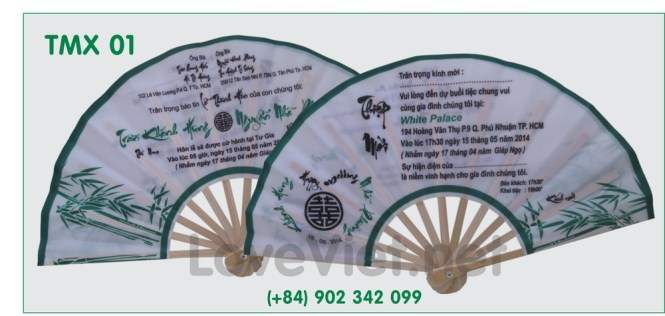 Wedding Fan Invitation Card Gift Souvenir Handfan Folding Hand Fans