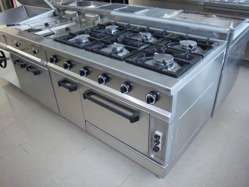 propane kitchen stoves drop lights 4 burners with oven gas range hotel equipment ...