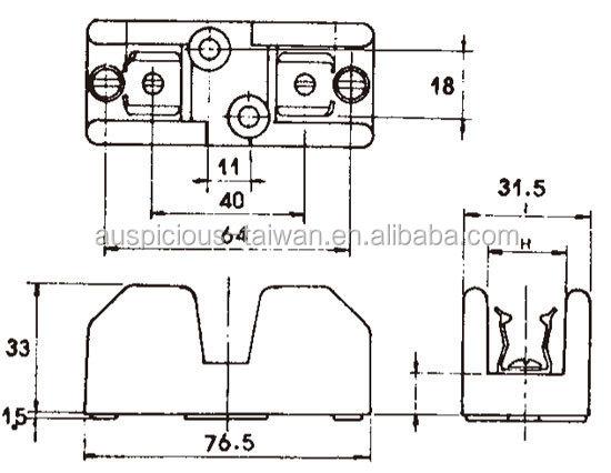 30 Amp 1 Pole Fuse Holder, Fuse Box (FS-301), View fuse