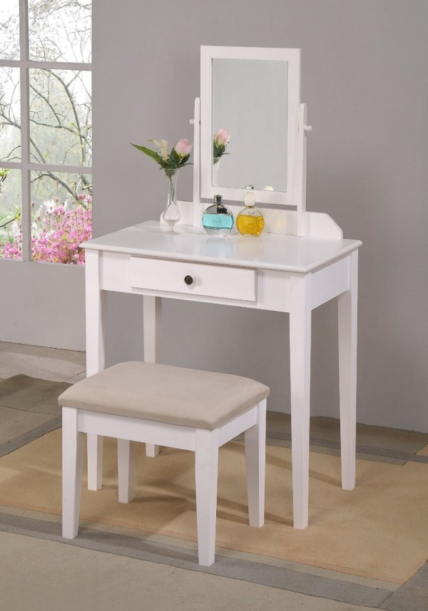 Factory Direct Dresser Table Wood Makeup Vanity