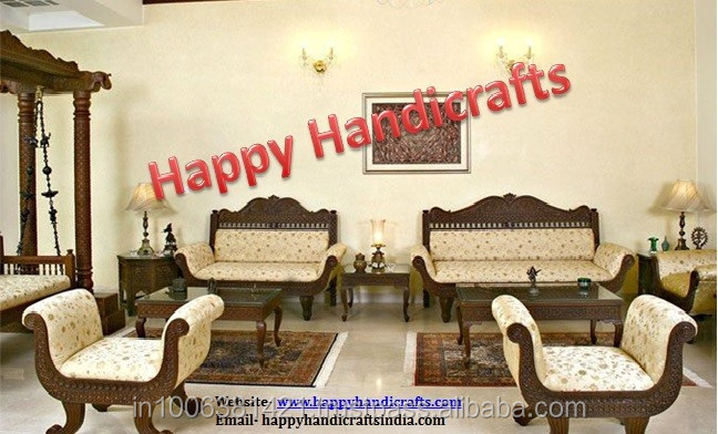 sofa set designs for small living room india yellow sale indian wooden maharaja royal buy