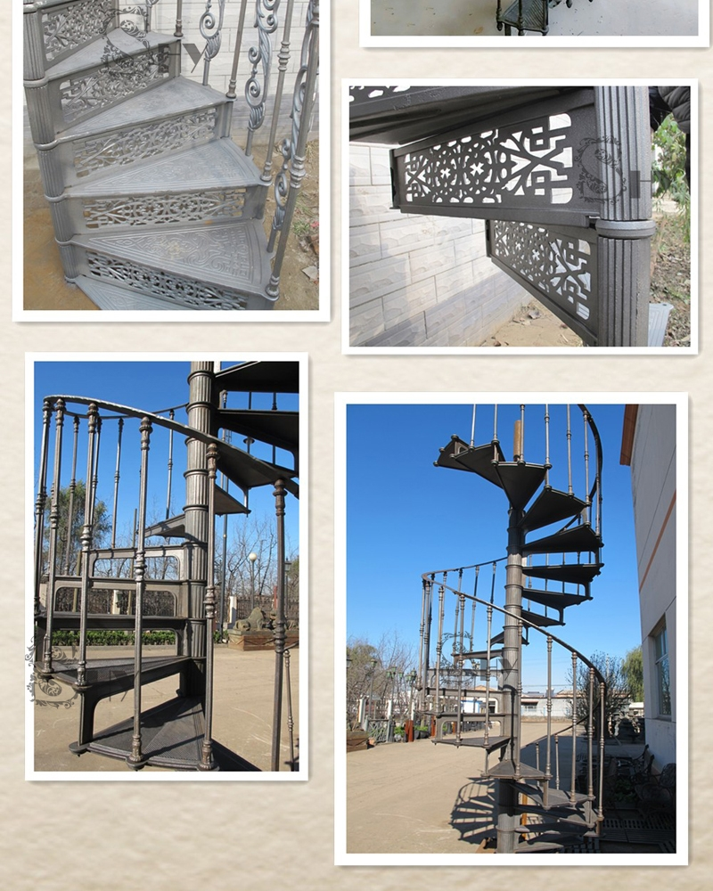 Interior Outdoor Used Metal Spiral Staircase Cast Iron | Outdoor Spiral Staircase Cost