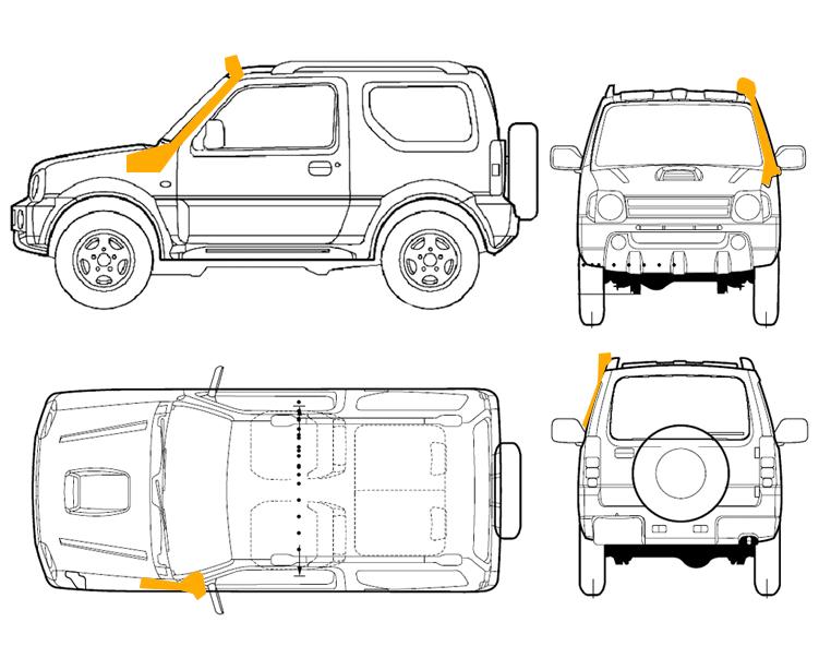 Car.Accessories Defender series 4x4 snorkel Land Rovers
