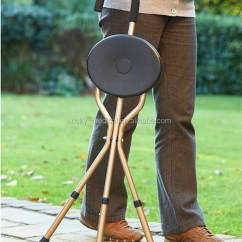 Walking Stick Chair Wicker Saucer Cane With Function Aids Seat Sticks