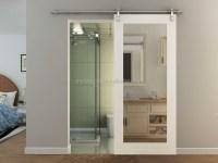 Bathroom Solid Wood Barn Door With Mirror - Buy China ...