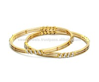 18k Maria Bis Hallmark Gold Diamond Bangles - Buy 18k ...