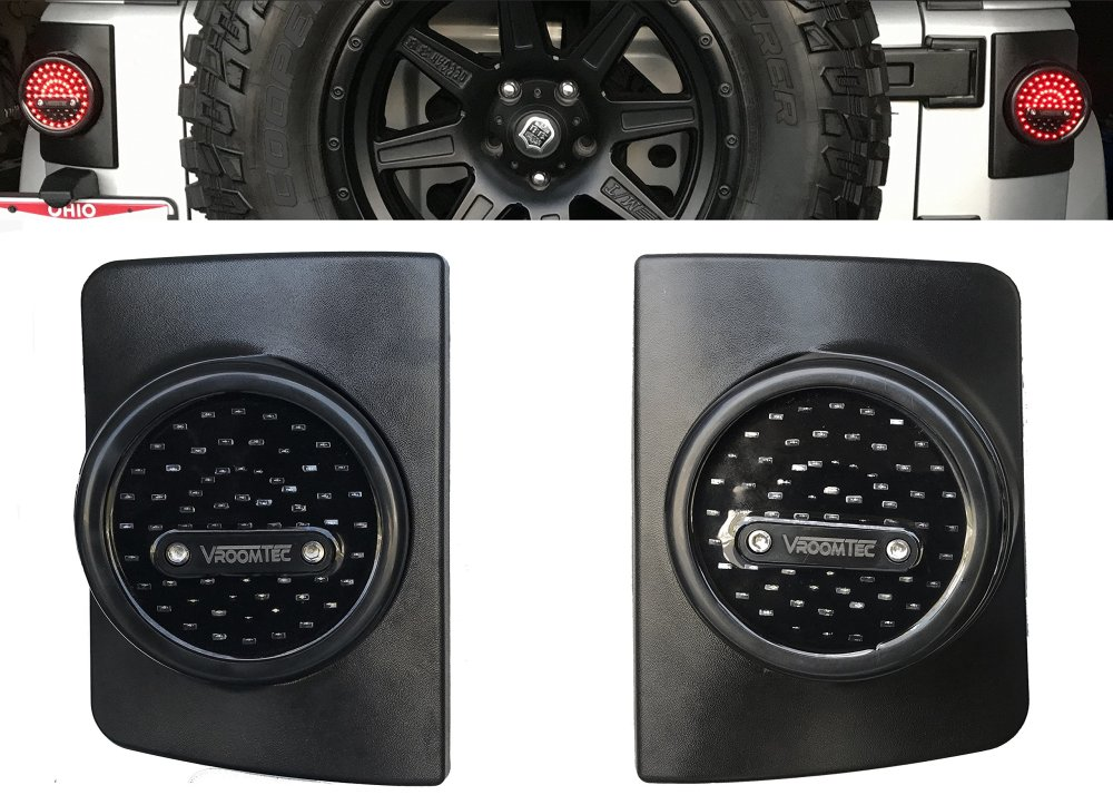 medium resolution of vroomtec jeep wrangler jk jku led round tail lights attractive design and enhanced vehicle safety